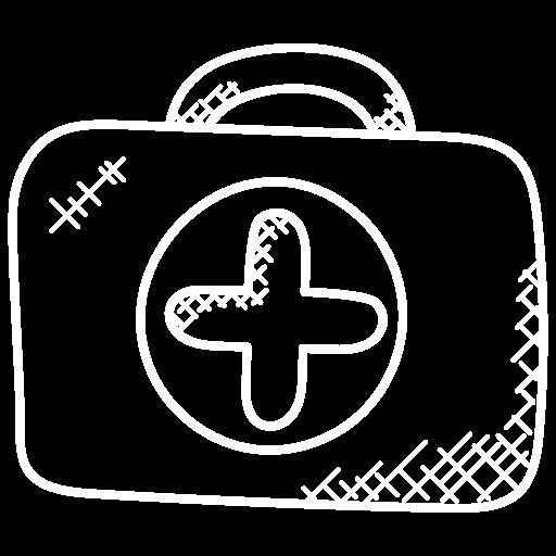 Arbeitssicherheit, Zeichnung eines Arztkoffers