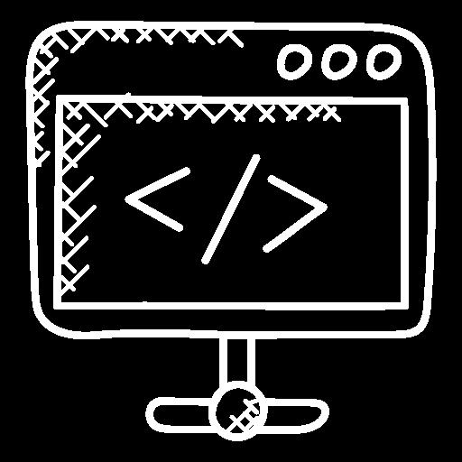 Technologie und Integration, Code auf einem Bildschirm