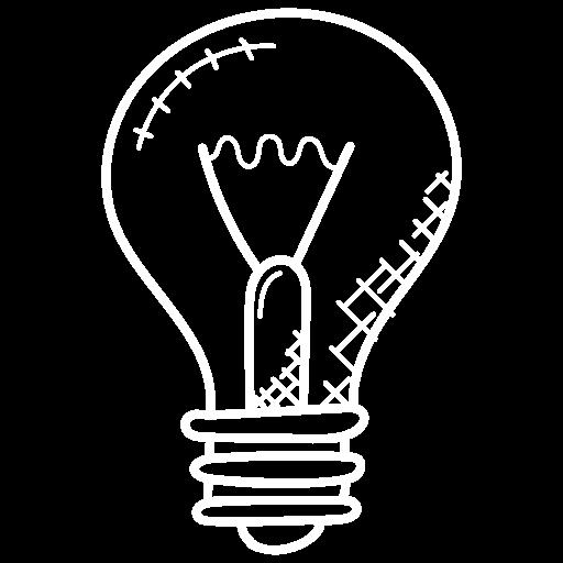 Talent, Zeichnung einer Glühbirne