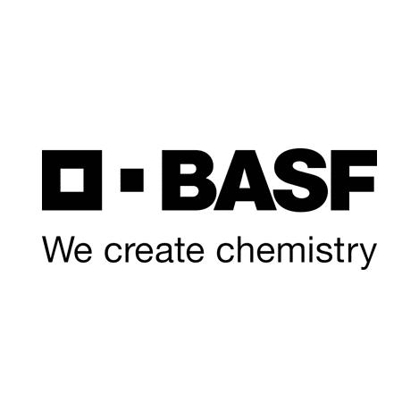 BASF, We Create Chemistry, Logo und Schriftzug