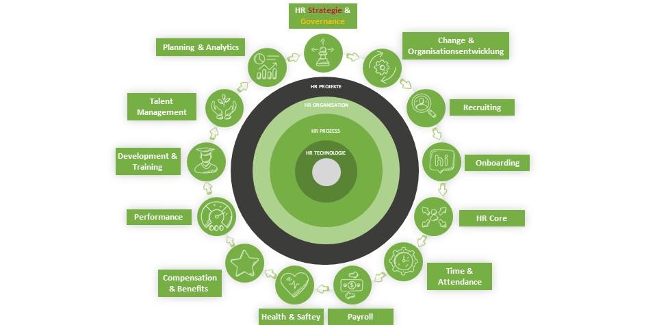 HR Lifecylce Komponenten Elevator Pitch HR Strategie and Governance Prozess