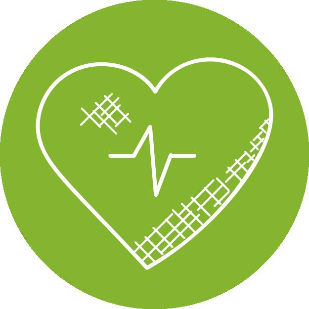 Gesundheit, ein schlagendes Herz